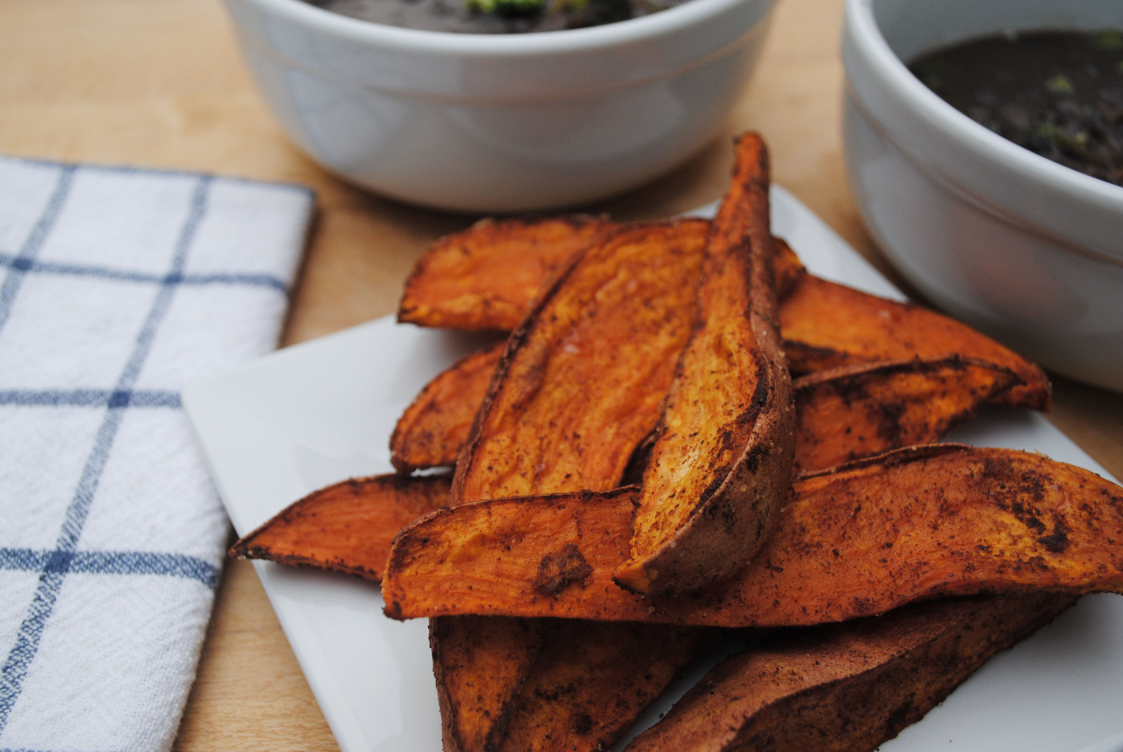 Spiced Sweet Potato Wedges