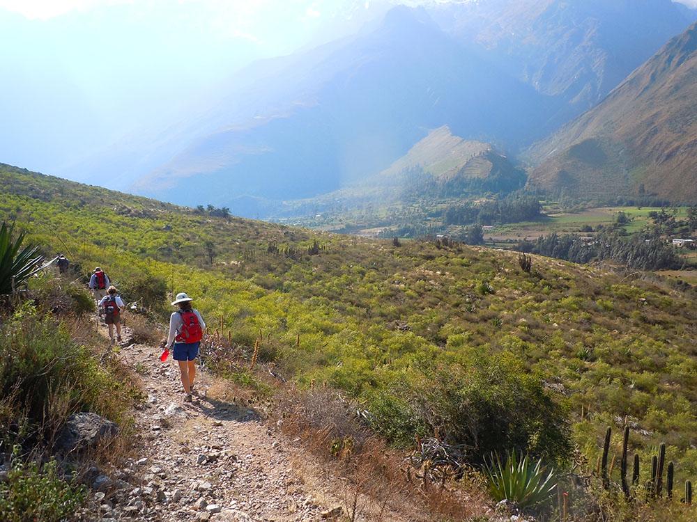 Hiking the trail to Machu Picchu