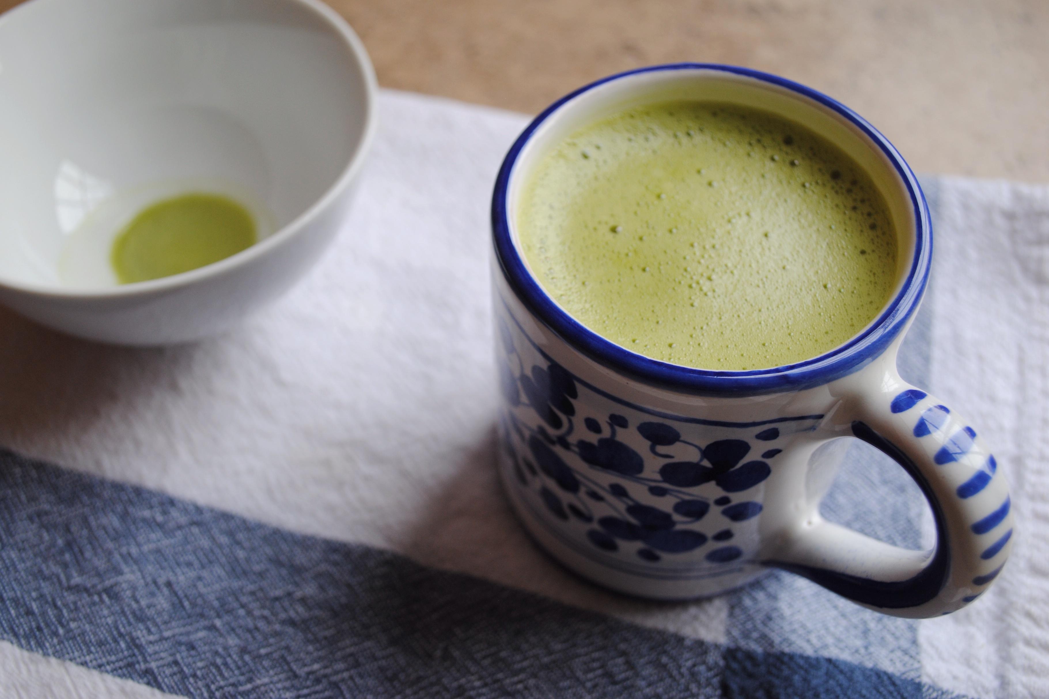 Matcha tea in a mug